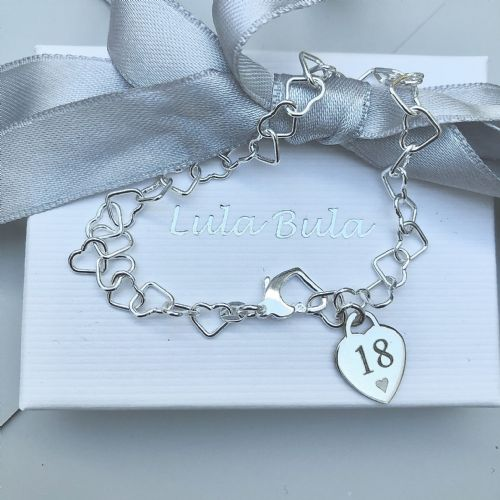 18th birthday gift charm bracelet - FREE ENGRAVING